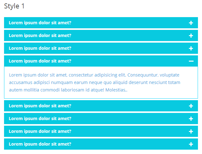 Awesome FAQ PRO example - Style-1