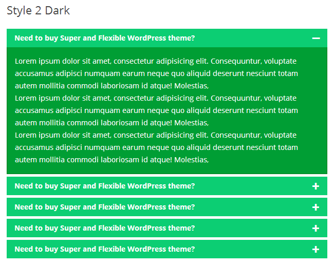 Awesome FAQ PRO example - Style-2-Dark