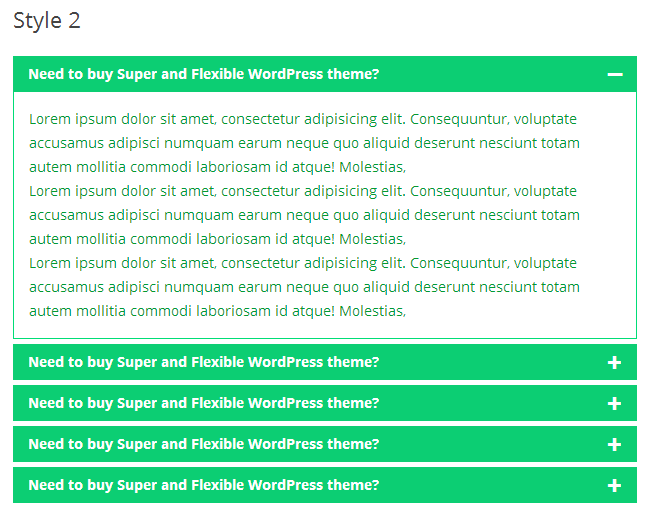 Awesome FAQ PRO example - Style-2