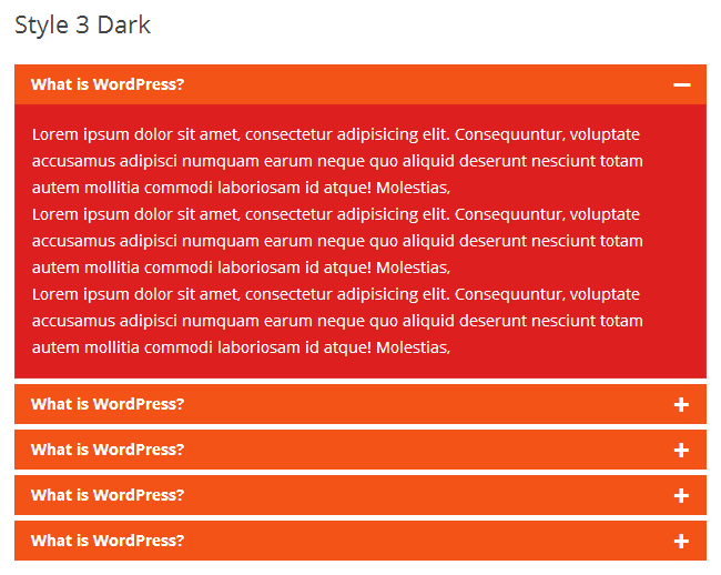 Awesome FAQ PRO example - Style-3-Dark