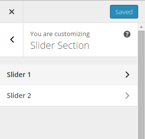 Slider section Polmo Theme