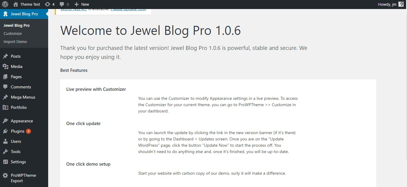 jewel blog pro welcome